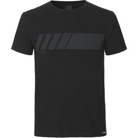 GripGrab Racing Stripe Maglietta in cotone biologico, nero